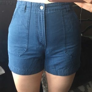 Columbia Blue Denim Mom Hiking Shorts